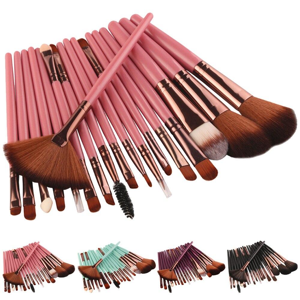 18Pcs Makeup Brushes Kit Professional Blush Eye Shadow Foundation Brush Toiletry Kit Wool Make Up Brush Set Tool Maquiagem L510