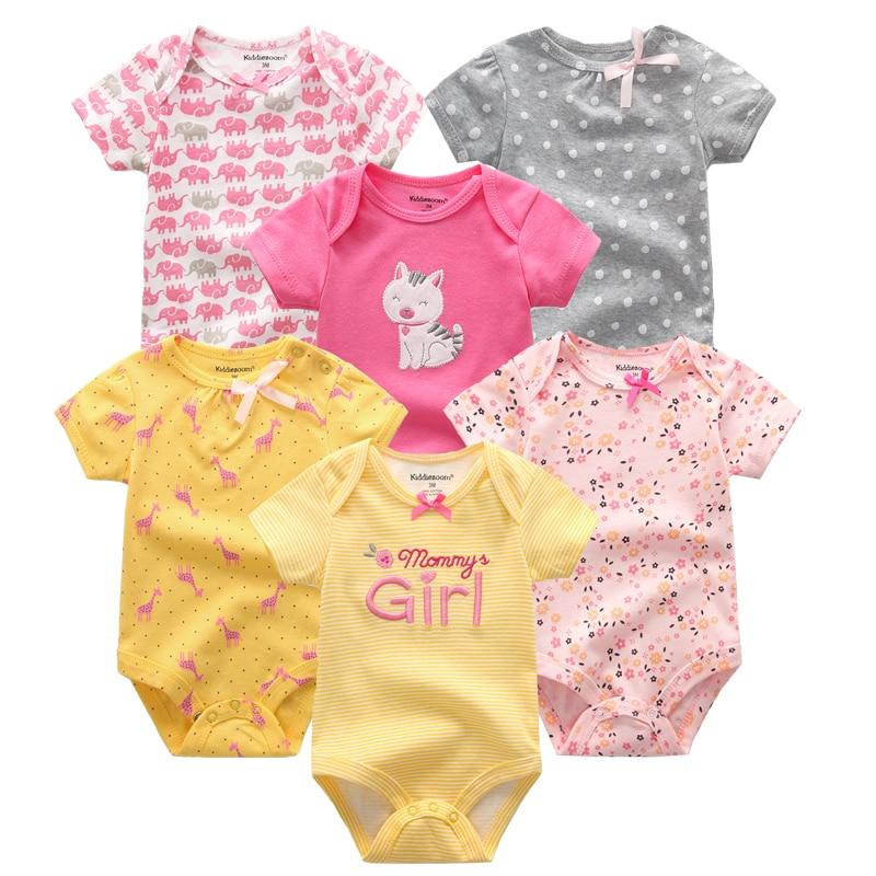 2021 6PCS/Set Unisex Newborn Baby Boy Clothes Unicorn Cotton Baby Girl Clothes Cartoon Girls Baby Clothing Jumpsuits Bodysuits 5