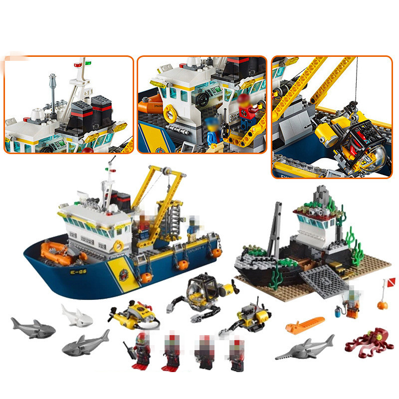 City Series LEPIN 02012 774pcs Deepwater Exploration Vessel Children Educational Building Blocks Bricks Toys Model Funny Gifts in stock lepin 02012 774pcs city series deepwater exploration vessel children educational building blocks bricks toys model gift