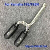 Для Yamaha FZ6 FZ6N мотоцикл выхлопной Системы советы труб скольжения на Ближнем образцы трубы для Yamaha FZ6 FZ6N Moto