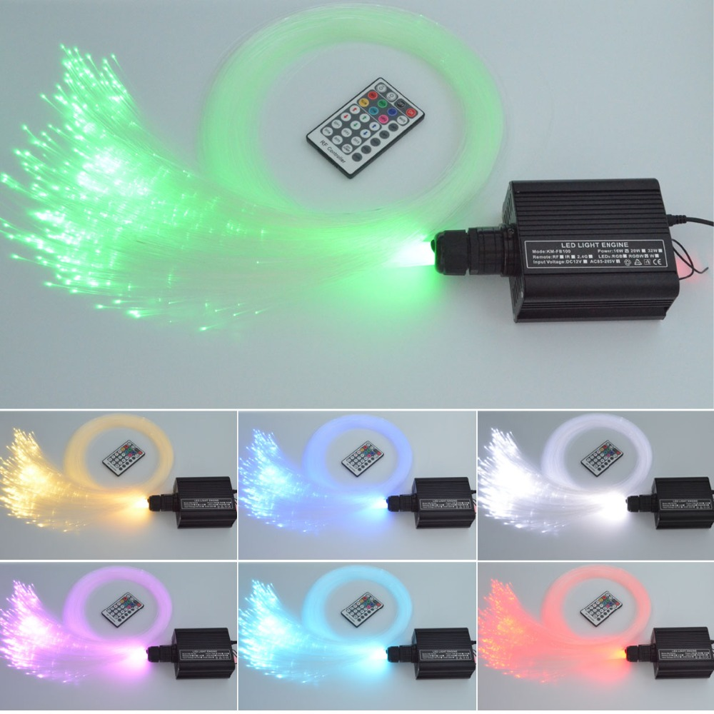 16W RGBW LED fiber optic star ceiling light kit 0.75mm 300pcs 2m fiber optic lighting 28key remote control light source 2016 newest touching panel controller 16w rgbw led optic fiber light engine 150pcs 0 75mm 2meter optic fiber diy light