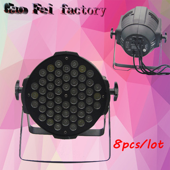 ¡Oferta! Luz LED DMX Para Escenario 54x3 W RGBW LED Luz Plana Par DMX512 (8 Unids/lote)
