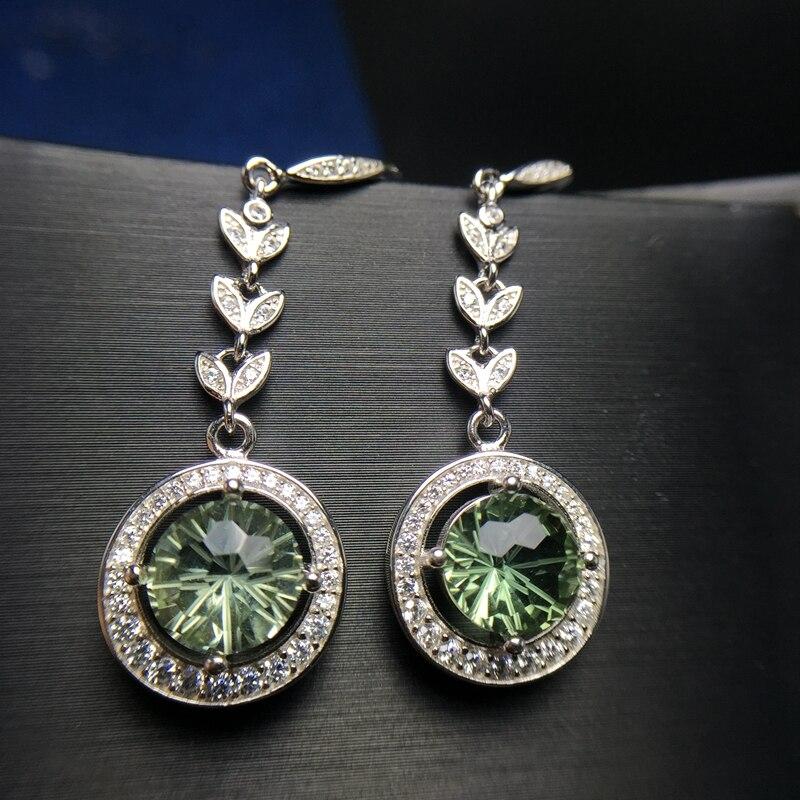 Almei boucles d'oreilles en cristal vert pour femmes, 925 boucles d'oreilles en argent Sterling pour femmes filles 20% FR163
