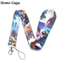 Homegaga how to train your dragon toothless light fury keychain lanyard ribbon neck strap phone holder necklace D1744