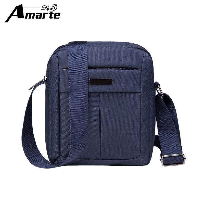 2018 Amarte Man Fashion Messenger Casual Bags Nylon Crossbody Soild Bag Mens Shoulder Bag Multifunction Small Travel Bag S M L