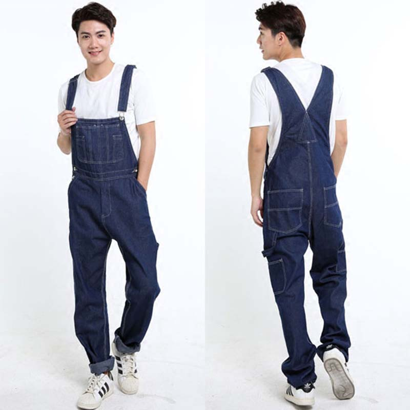 New Fashion Mens Jeans Baggy Denim Overalls Cargo Pants ...