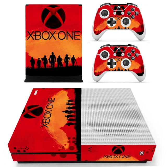 Red Dead Redemption II Vinyl Skin Sticker For The Xbox One S Console With Two
