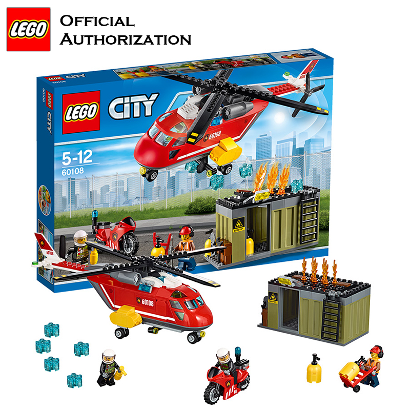 Building Blocks Fire Control Plane Toy City Series lego