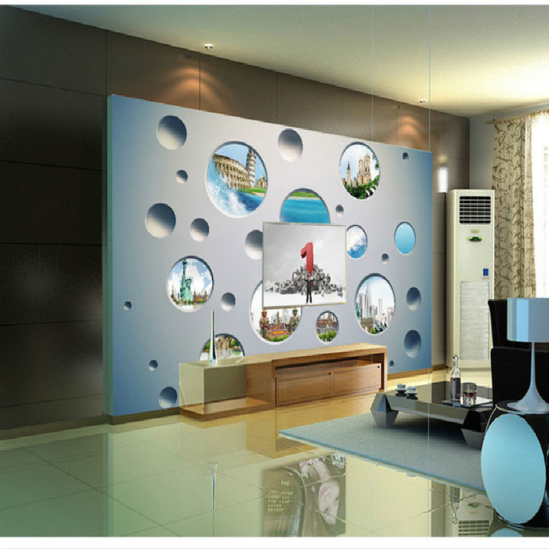 3D backgrounds stereoscopic landscape  backdrop wall murals living room bedroom study paper 3D wallpaper for walls