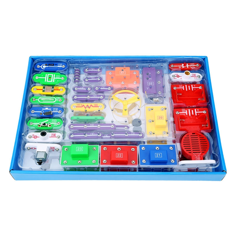 New Circuits Block Smart Electronic Kit Integrated Circuit Building Blocks Experiments Educational Science Kids Toys gift science experiments you can eat