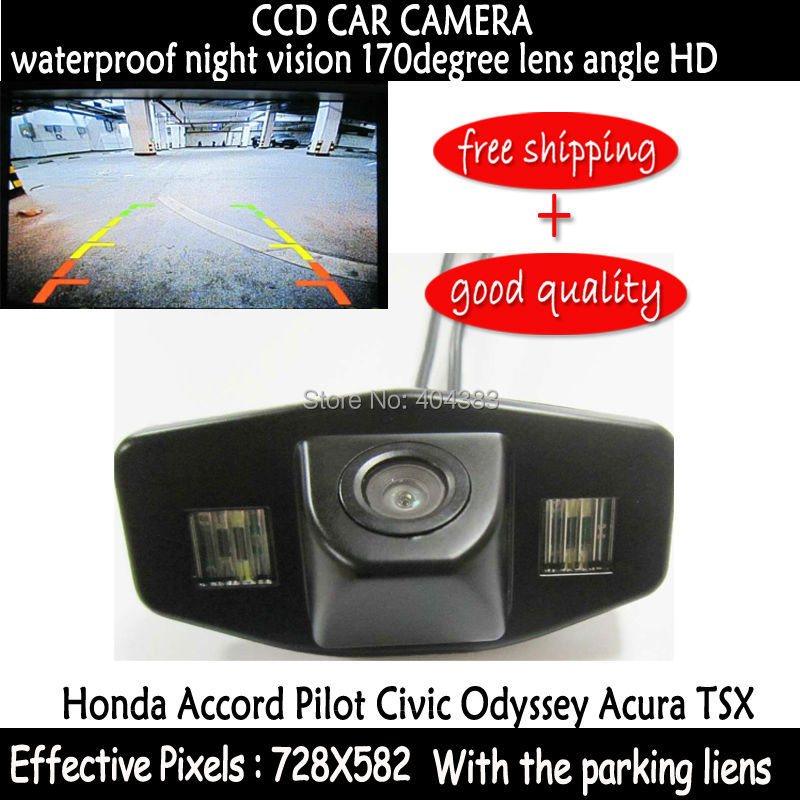 CCD night vision waterproof car reverse backup parking rear view rearview camera FOR Honda Accord Pilot Civic Odyssey Acura TSX