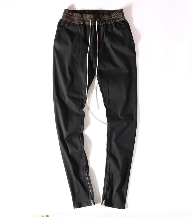 539b87917c1c2 justin bieber pants Slim trousers skateboard fashion skinny Zipper ...