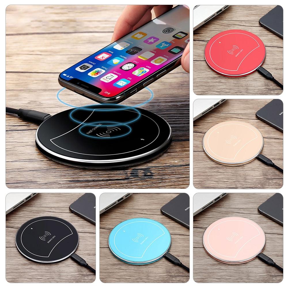 Купить 10 Вт Быстрый Беспроводной Зарядное устройство для samsung Galaxy S10 S9 S8 Note 9 8 смартфон с USB Qi зарядного устройства для iPhone 8 Plus XS Max XR X 10 на Алиэкспресс