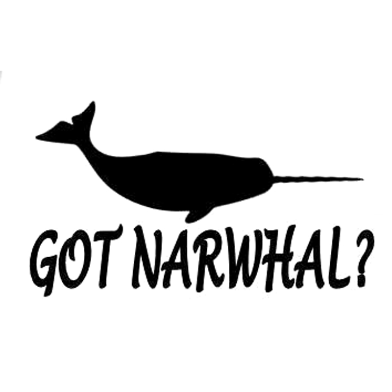15cm*8.5cm Got Narwhal Fashion Car Styling Decor Vinyl Car Sticker S4-0138