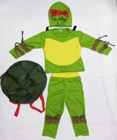 Green 3 7 Years Cosplay Party Boy Role Play Clothing Kid Leo Leonardo Da Vinci Halloween
