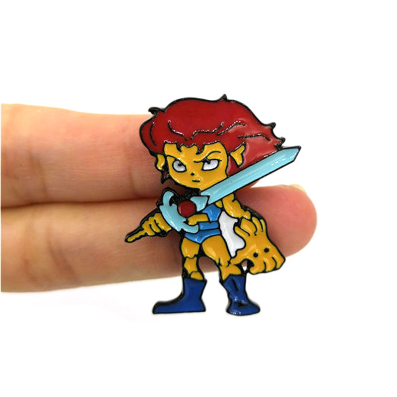 Cartoon character Vintage kids men women funny cartoon backpack clothes diy decoration Enamel Brooches badge collar pins gifts in Brooches from Jewelry Accessories