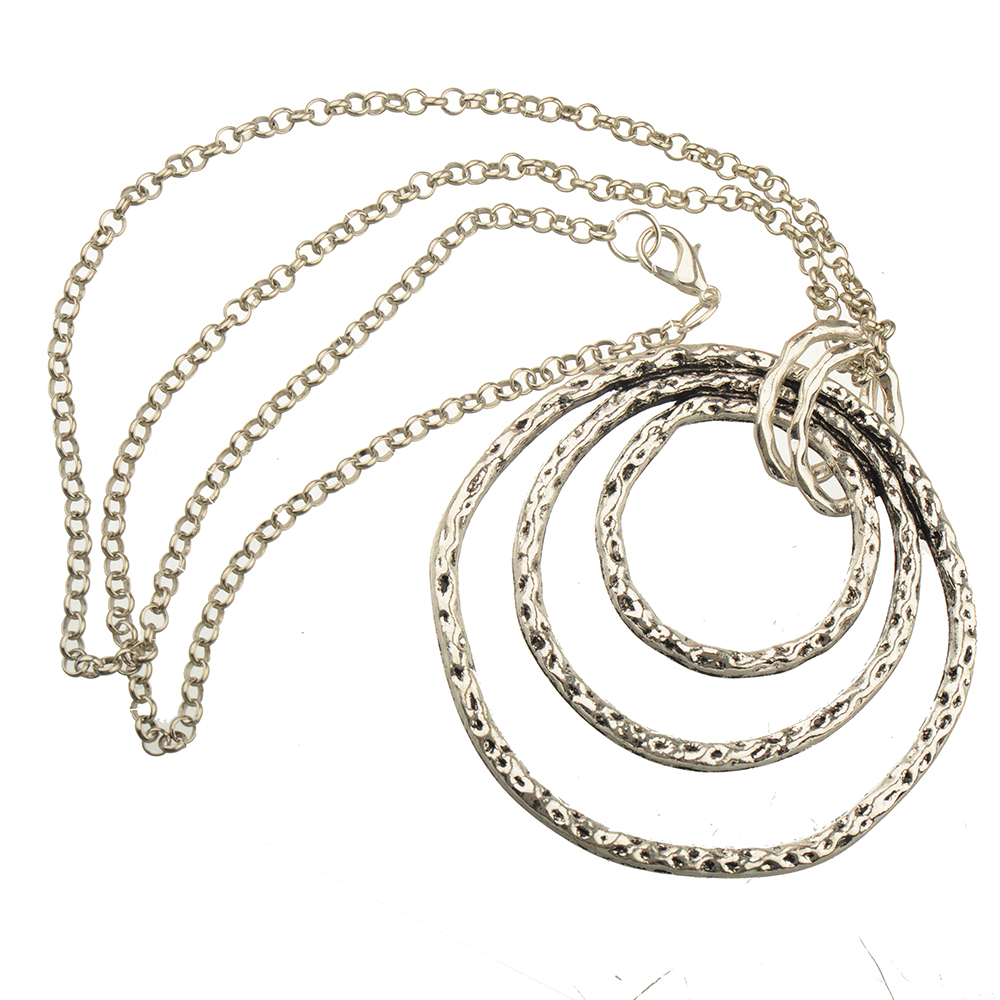 Fashion Necklaces Woman Man Jewelry Large Silver Pendants Animal Flower Heart Copper Chains 70cm Christmas New