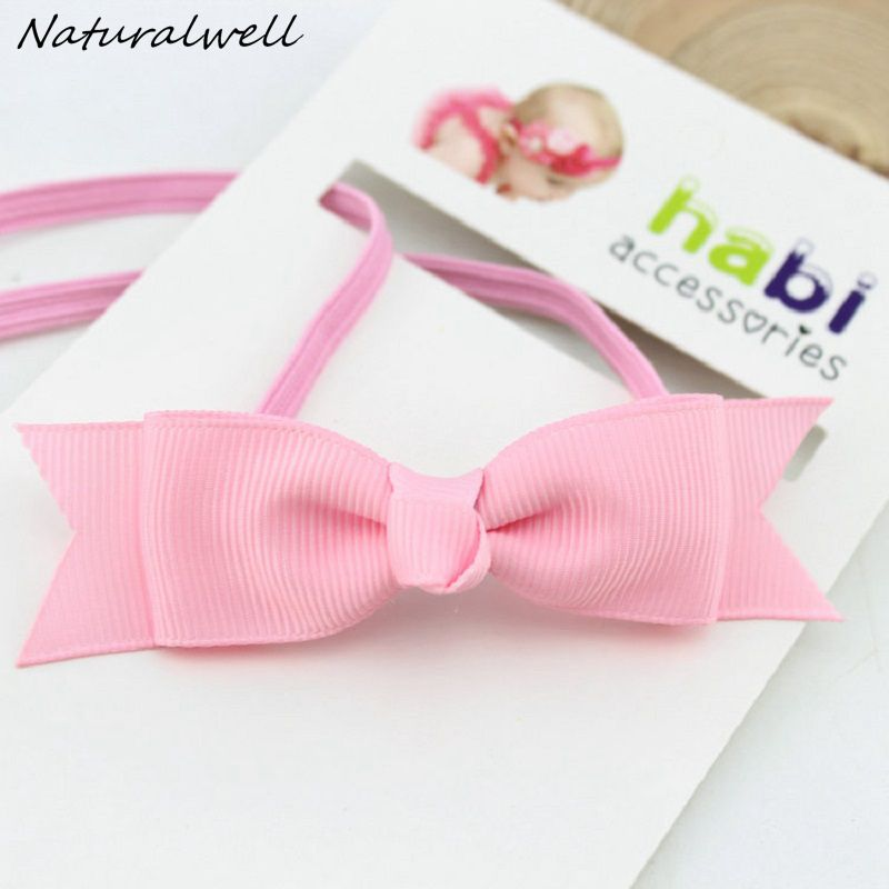 Naturalwell Baby Girl Ribbon Bow Hairband Cute Bow-Knot Headband Kids Hair Band Hair Accessories Gift Headpiece 1pc HB280 все цены