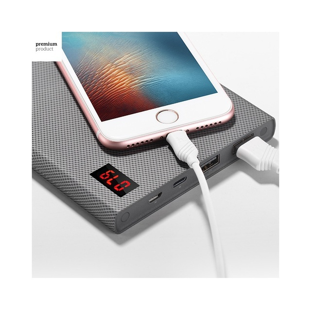 Hoco checker power bank 20000 mah cargador dual usb para el iphone samsung huawei etc (b17a-20000)
