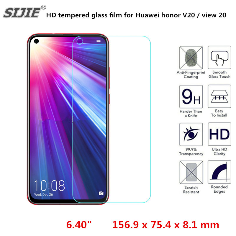HD tempered glass film For <font><b>Huawei</b></font> Honor View <font><b>20</b></font> <font><b>Smartphone</b></font> Full Screen cover Protector on crystals honor V20 v20 6.40inch image