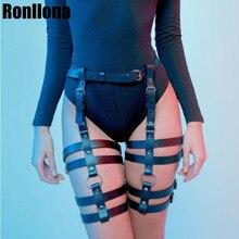 Sexy Hot Erotic Harness Belts Bondage Lingerie Suspender Belt Gothic Punk Style Pu Leather Leg Garters Body Cage