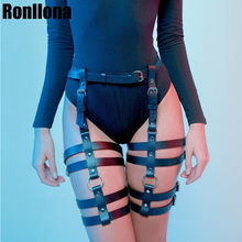 Sexy Hot Erotic Harness Belts Bondage Lingerie Suspender Belt Gothic Punk Style Pu Leather Harness Leg Garters Body Harness Cage(China)