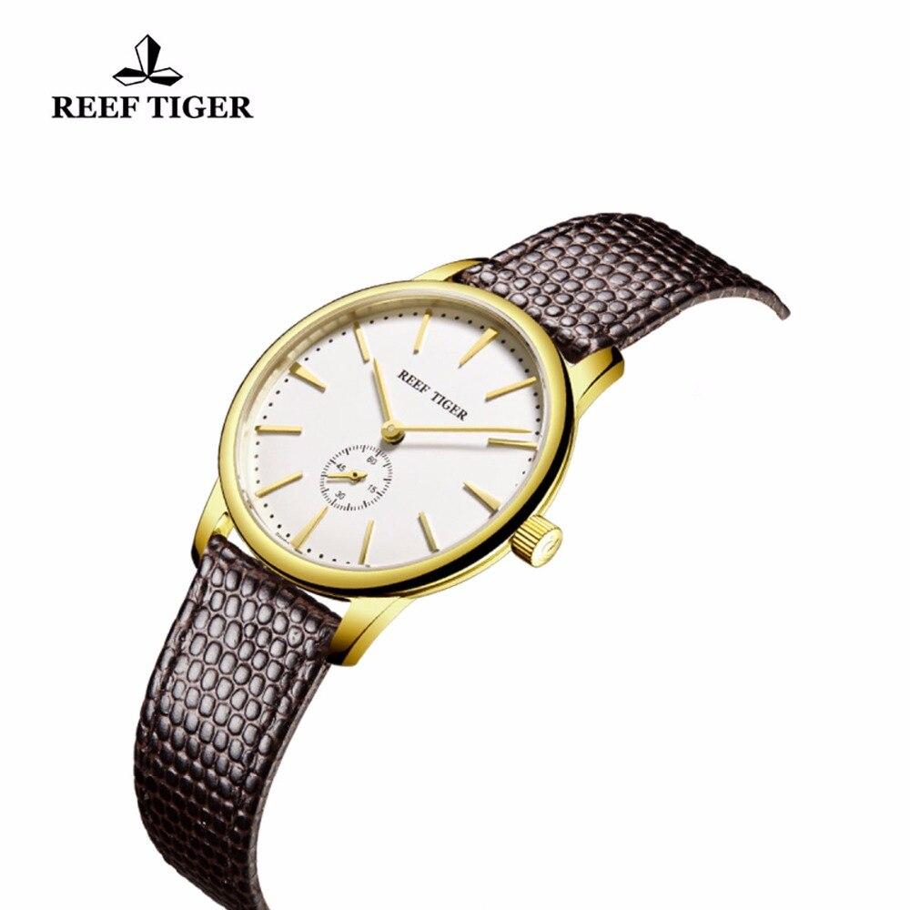 Reef Tiger / RT դեղին ոսկուց ծայրահեղ բարակ - Տղամարդկանց ժամացույցներ - Լուսանկար 3