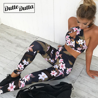 Women's Sports Wear Female Sportswear For Women Clothing Gym Fitness Suit Workout Clothes Sportwear Woman Floral Leggings Set