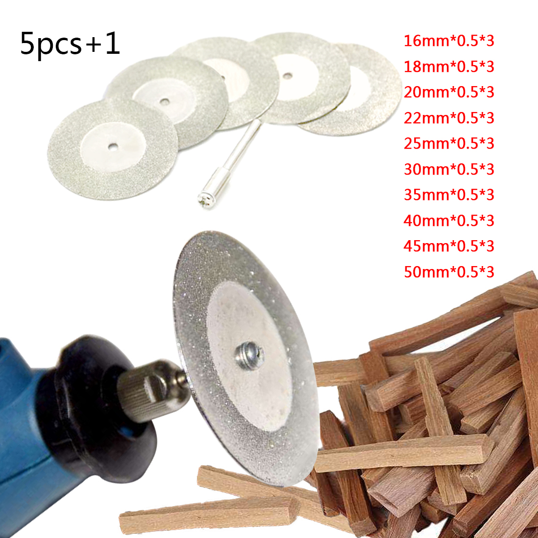Mini Diamond Saw Blade Silver Cutting Discs With 1X Connecting Shank For Dremel Drill Fit Rotary Tool