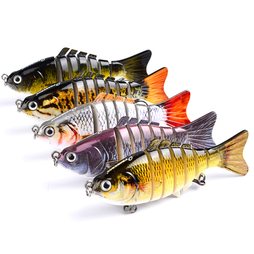 Swimbait-Lure Fishing-Tackle Crankbait Multi-Jointed 10cm 6-Segment Lifelike title=