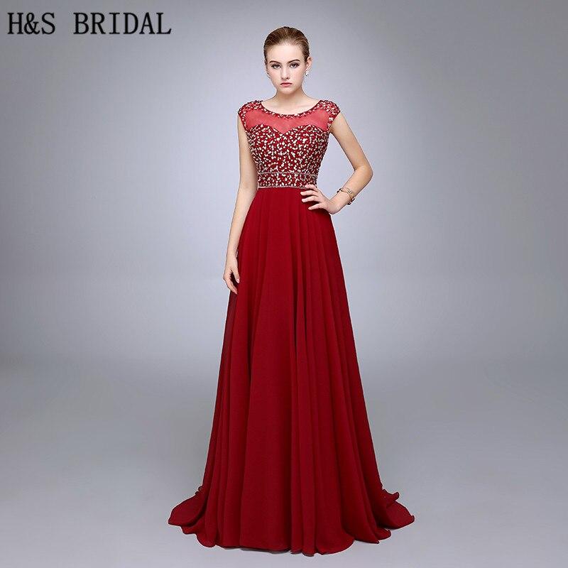 21b39b240a HS09 najlepiej sprzedający się wiosna linia wokół szyi sukienka wieczorowa  rękawy Cap Vestido De Festa czerwona
