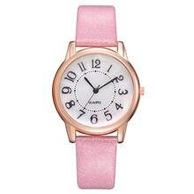 c2b605a9710 Mulheres de Couro Moda de Lazer de Luxo Definir Trado de Aço Inoxidável  Relógio de Quartzo · 8 Cores Disponíveis