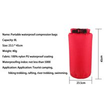 2016 8L portable waterproof outdoor swimming canoeing hiking camping dry bag pouch