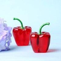66ミリメートル3色ガラスクリスタルコショウ文鎮土産スムージーかなり野菜贈り物工芸品お土産家の装飾贈り