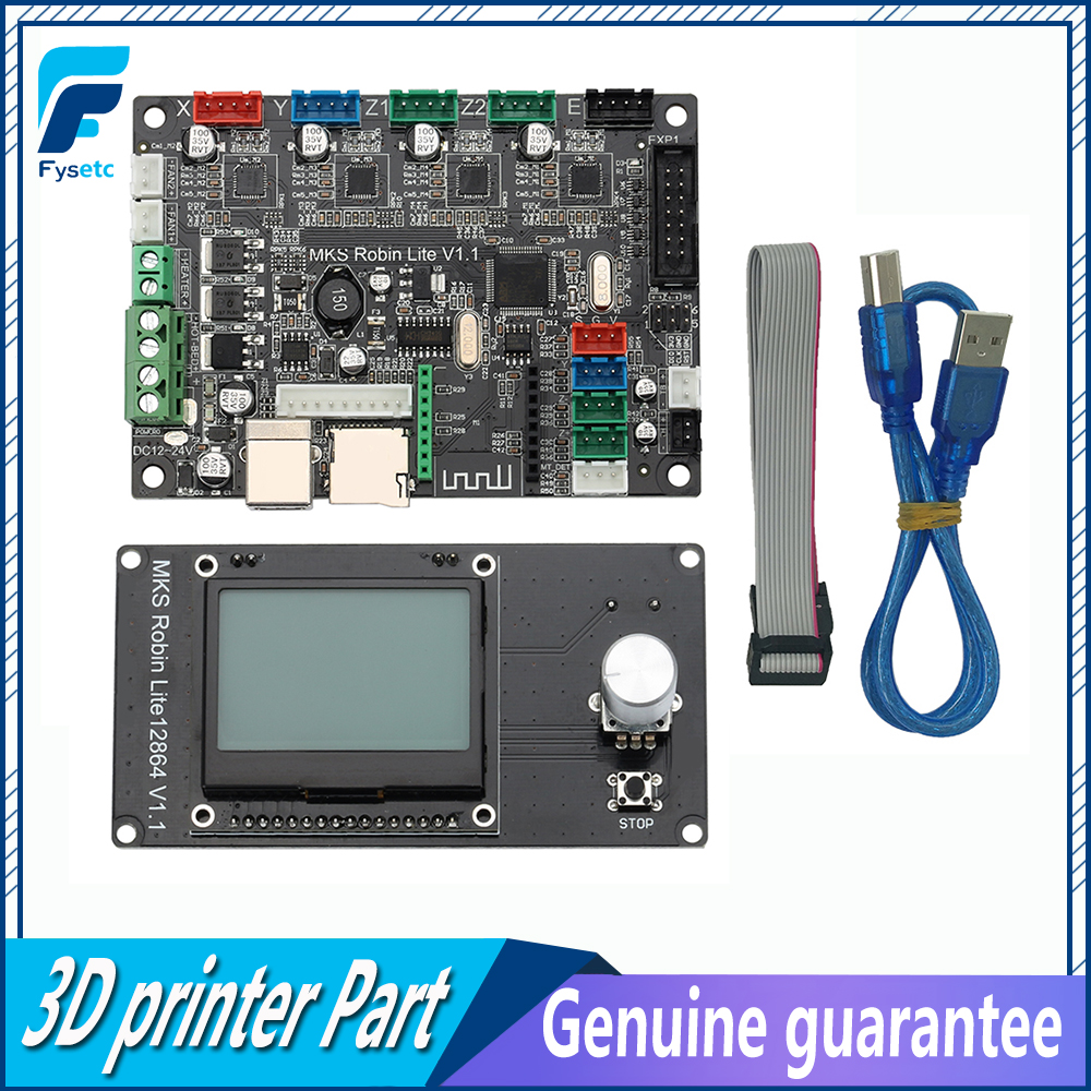 3D Printer Board STM32 Control Board 32 Bit MKS Robin Lite Motherboard With Mini 12864 LCD Display Closed Source Software