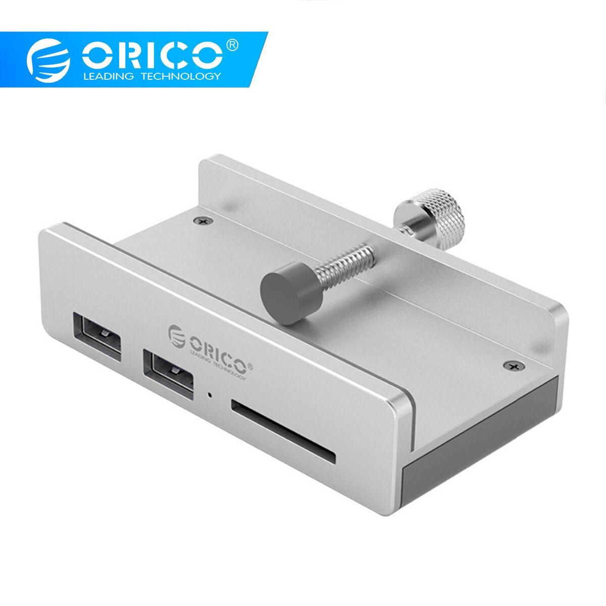 ORICO Clipe Design HUB USB 3.0 com Leitor de Cartão de Liga De Alumínio Clip-tipo 3 Portas de Alta Velocidade Hub Splitter para o Portátil Do Desktop
