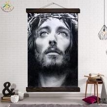 Лучший!  Иисус Эскиз Изображения Одной Современной Wall Art Print Pop Art Картина И Плакат Твердого Дерева