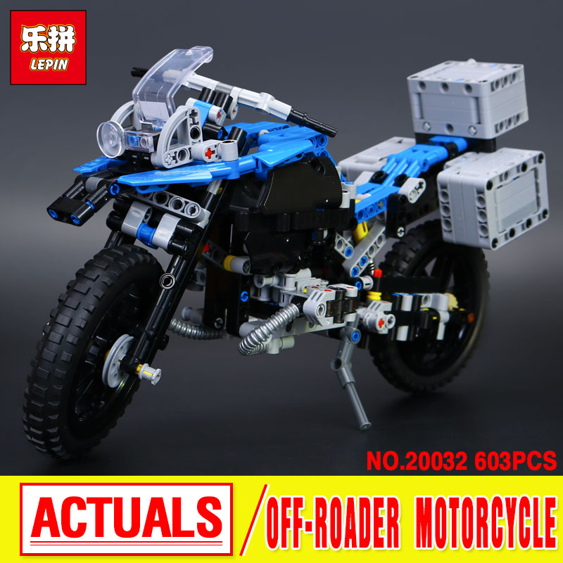 New 2018 Lepin 20032 Technic Series The BAMW Off-road Motorcycles R1200 GS Building Blocks Bricks 42063 birthday new lp2k series contactor lp2k06015 lp2k06015md lp2 k06015md 220v dc