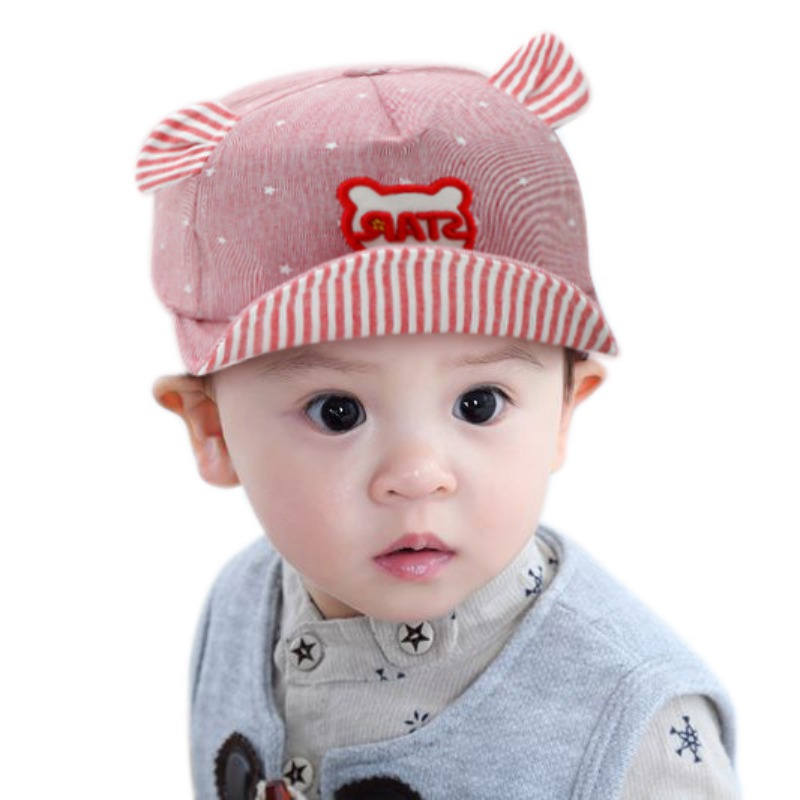 6036c2edec317 Newborn Baby Hat Cute Cat Hat Baby Boy Caps Summer Hats For Boy Infant Sun  Hat With Ear Beanies Accessories