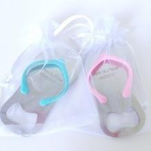 100Pcs Customized Flip-Flop Bottle Opener Gifts+Box/Organza Bag