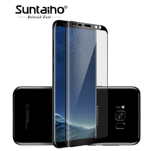 ФОТО suntaiho 3d curved round tempred glass for samsung galaxy s9 s9 plus 9h full coverage screen protector