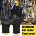 Safurance anti vibração luvas de trabalho ferramenta elétrica à prova de choque reduzindo a luva de segurança do trabalho para a mina de perfuração-local de trabalho de carvão