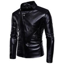 Newest Simple Fashion Motorcycle Leather Jacket Men Multi-Zippers Biker Jackets Male Bomber Coats