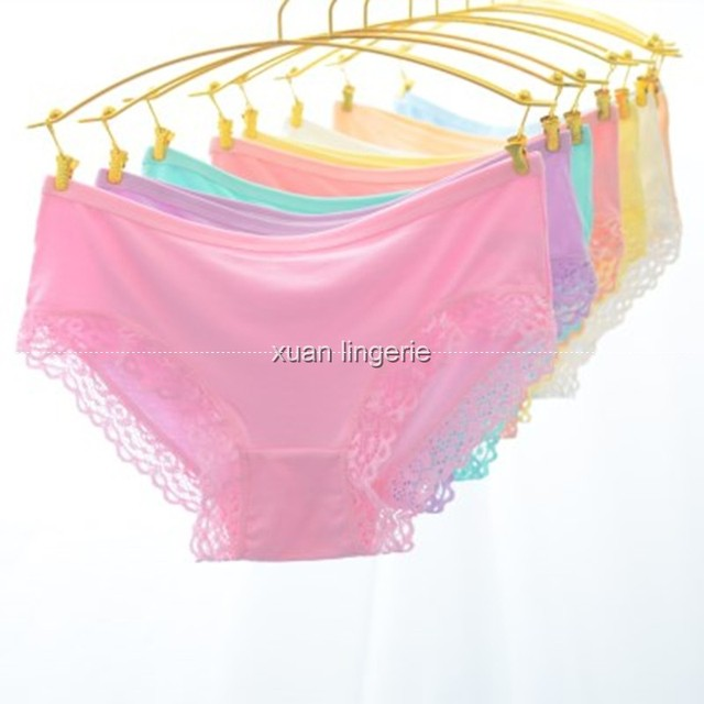 8ab636f22c6b Sexy women lace panties sexy super soft cotton breathable panty Hollow  briefs Plus Size girl underwear