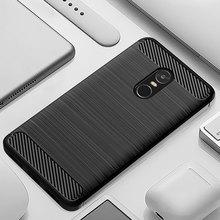 Caixa do telefone Para Xiaomi Redmi Nota Redmi 4X Carbono Estilo Capa Protetora de Silicone Macio Note4 Note4X Global Versão Pro 4XPro
