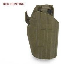 Tático Coldre de Arma Militar Ajuste Glock 19 23 38/H & K P30 VP9 45 pistola/pistola Ruger 9E cinto Coldre Polímero Frete Grátis