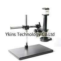 HD 2.0MP Digital Industrial Microscope Camera USB AV TV VGA Output + 180X / 300X C Bayonet Lens Mount + 144 LED Light
