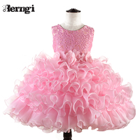 Berngi Baby Toddler Kids Dress For Party Wedding Girls Layered Tutu Cake Dress For Formal Occasions