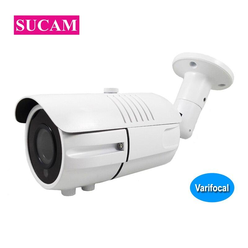 SUCAM Analog High Definition 4MP Varifocal Camera Bullet 2 8 12mm Adjustable Lens Home AHD Surveillance