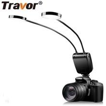 Travor ML 2D 플래시 링 LED 매크로 플래시 Speedlite 금속 호스 Canon Nikon Panasonic Olympus MI sony의 임의 LCD 디스플레이